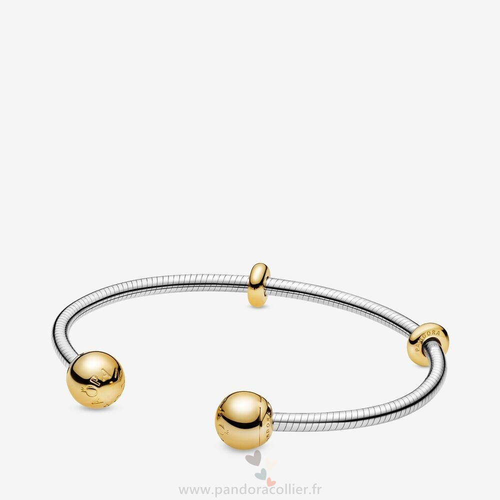 Promotionnel Pandora Pandora Shine Des Moments Chaîne De Serpent Ouverte Bracelets