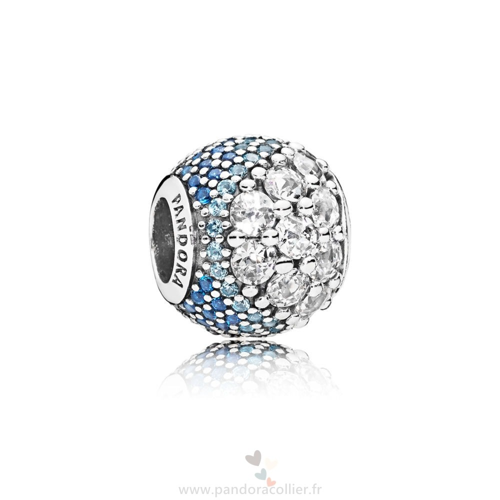 Promotionnel Pandora Bleu Enchanté Pavé Charm