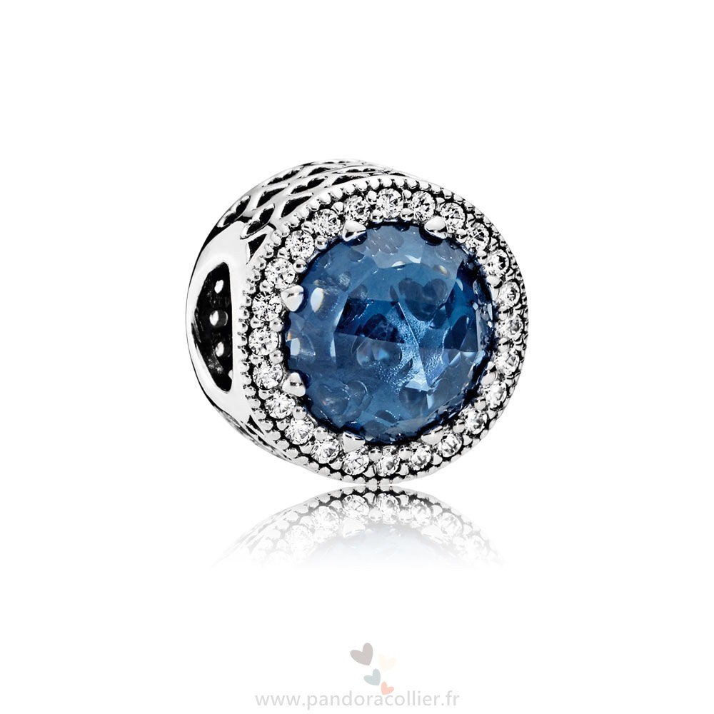 Promotionnel Pandora Collection Coeurs De Radiant Moonlight Blue Crystal Clear Cz