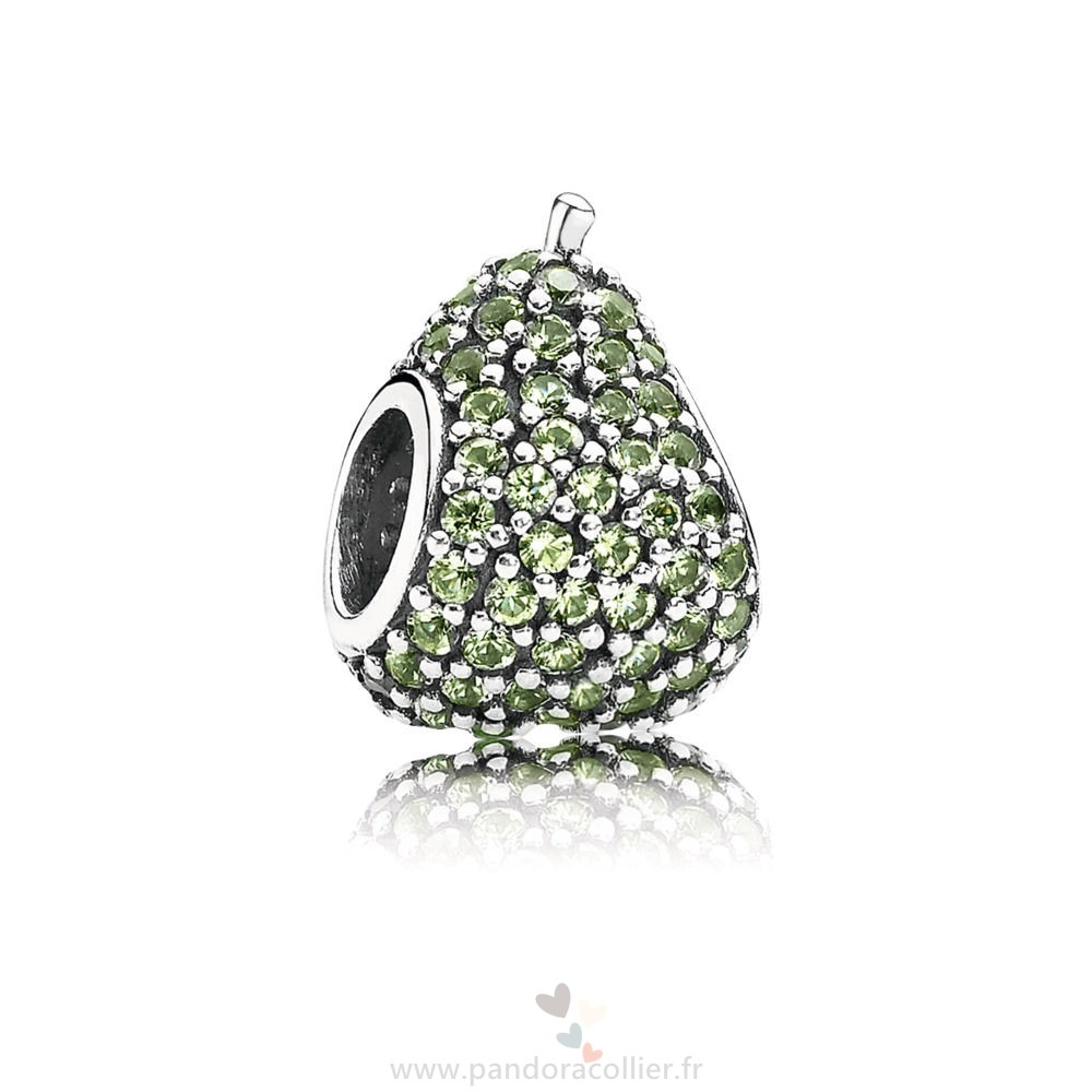 Promotionnel Pandora Green Pavé Pear Charm