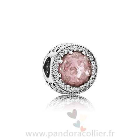 Promotionnel Pandora Pandora Collection Coeurs De Pandora Radiant Coeurs Charme Blush Rose Crystal Clear Cz
