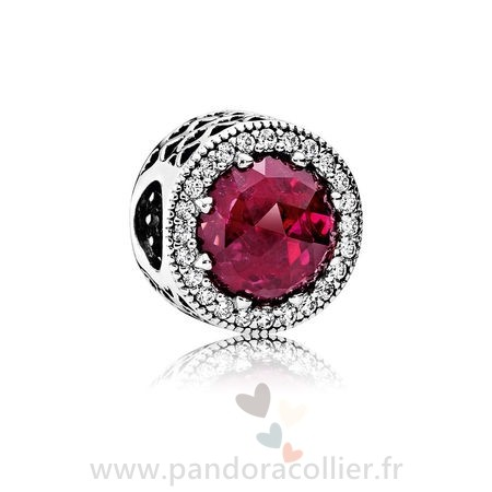 Promotionnel Pandora Pandora Collection Coeurs De Pandora Radiant Coeurs Charme Cerise Crystal Clear Cz