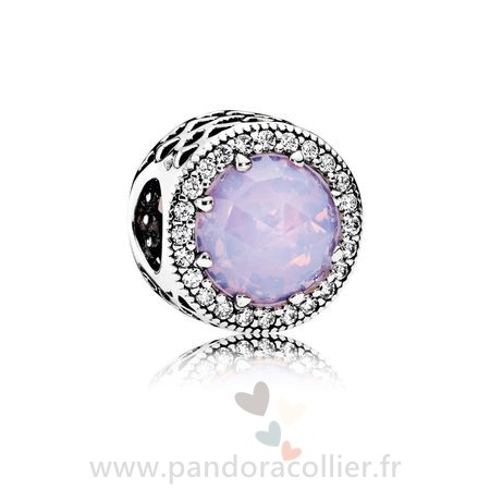 Promotionnel Pandora Pandora Collection Coeurs De Pandora Radiant Coeurs Charme Opalescent Rose Crystal Clear Cz