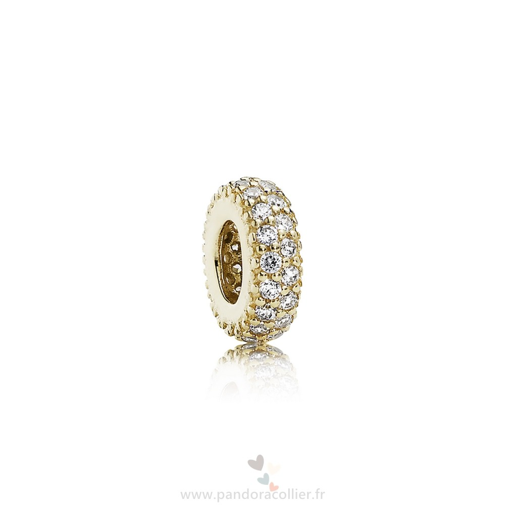 Promotionnel Pandora Pandora Paillettes Paves Breloques Inspiration Dans Spacer 14K Or Cz