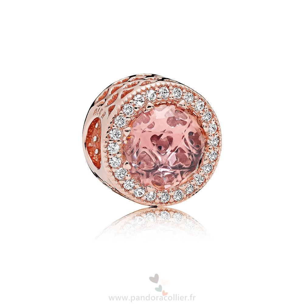 Promotionnel Pandora Pandora Paves Charms Charms Coeur Charme Pandora Rose Blush Rose Crystal Clear Cz