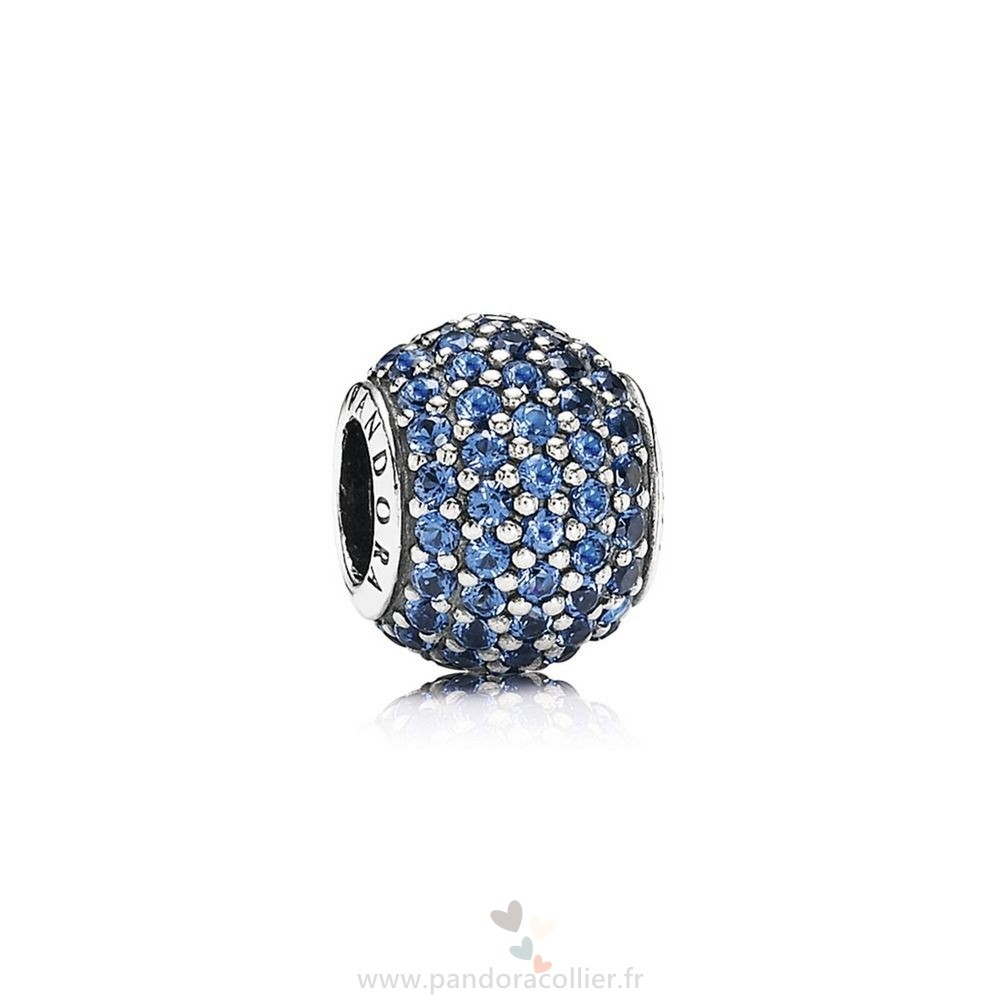 Promotionnel Pandora Pandora Sparkling Paves Charms Pave Lumieres Charm Blue Crystal