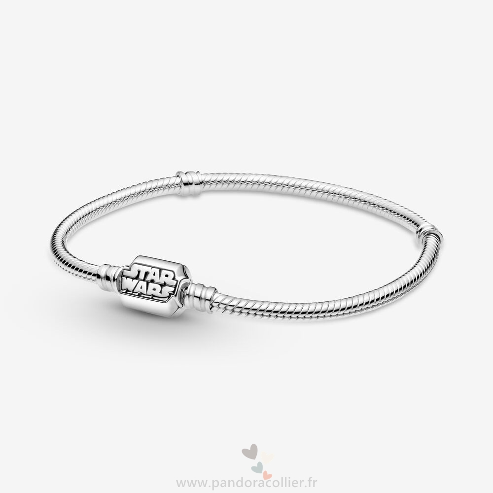 Promotionnel Pandora Fermoir Chaîne Serpent Star Wars Pandora Moments Bracelets